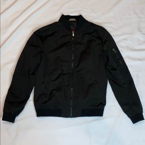 ZaraMan Black Bomber Jacket